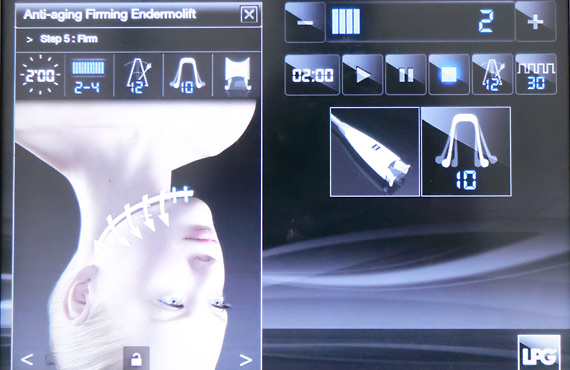 Facial Endermologie Control Panel